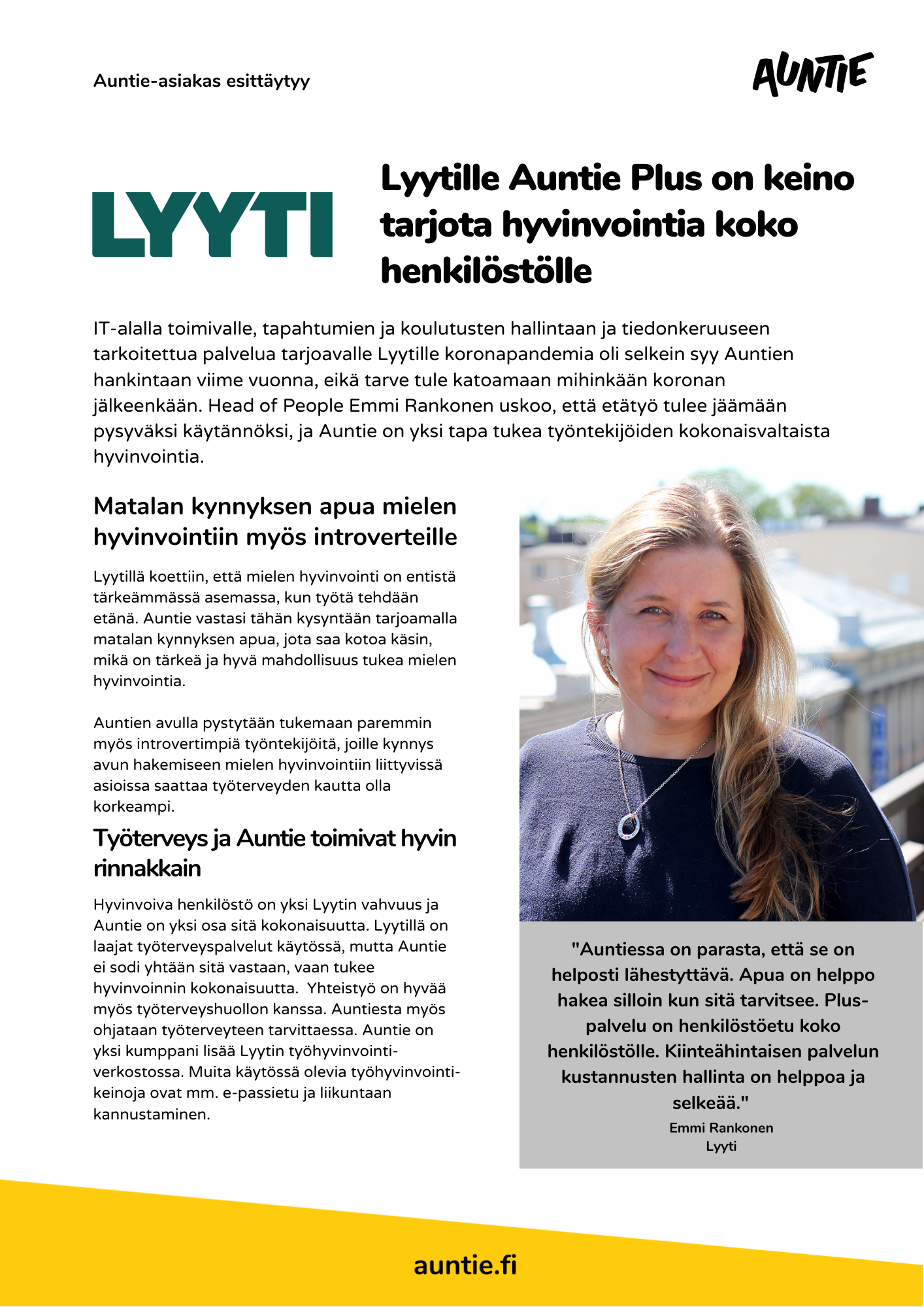 Lyyti - Auntie case study