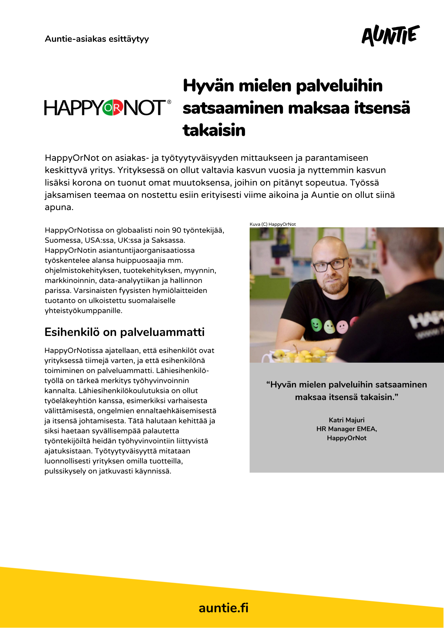 Uusi Happy or Not asiakastarina